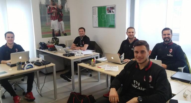 Equipe AC Milan| Crédito: Arquivo Pessoal